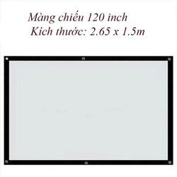 Màn chiếu treo tường, dán tường 120 inch - Kích thước: 2.65 x 1.5m