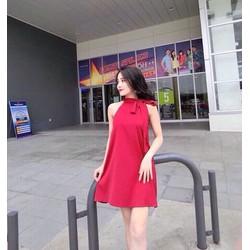 Đầm suông nơ cực xinh