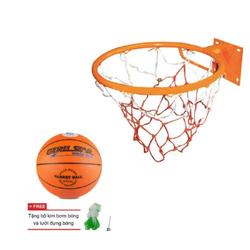 Vành rổ zensport 40cm + quả bóng rổ gerustar No 5