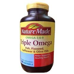 Nature Made Triple Omega 3-6-9 hỗ trợ tuần hoàn trí nhớ tim mạch