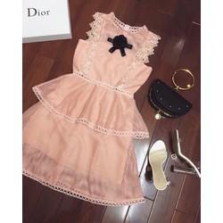 Váy ren lưới tag hoa HT
