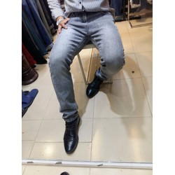 quần jean nam xám xước nhẹ
