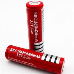 Cặp Pin sạc 18650 màu đỏ loại tốt