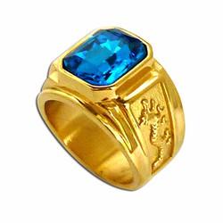 Nhẫn nam chạm hình rồng vàng