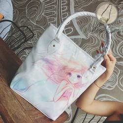 Túi xách nữ họa tiết in hình dễ thương giá rẻ