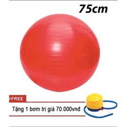 Bóng tập yoga trơn 75cm Đỏ