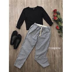 Set áo thun tay dài quần kaki caro hàng nhập! - MS: S130823 Gs: 160k