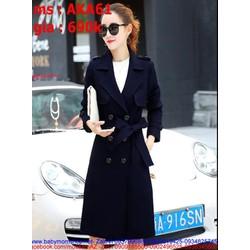 Áo khoác kaki nữ kiểu măng tô cho nàng thanh lịch thời trang AKA61