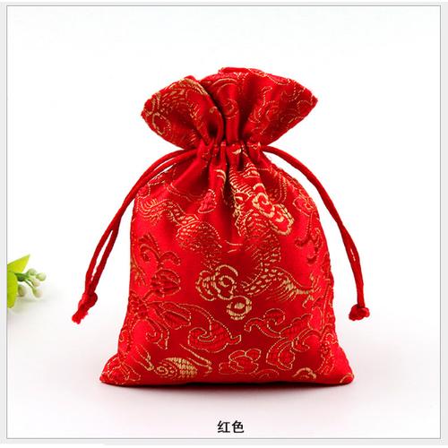 Túi gấm Thượng Hải phong thủy màu đỏ