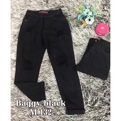 quần baggy jeans đen rách