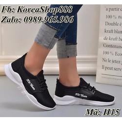 Giày Sneaker vải nữ kiểu dáng Hàn Quốc