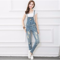 Quần yếm jean nữ kiểu Hàn Quốc -Y1833