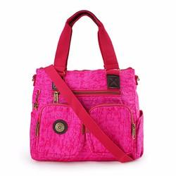 Túi xách hai hộp Kipling vải wax màu hồng tím