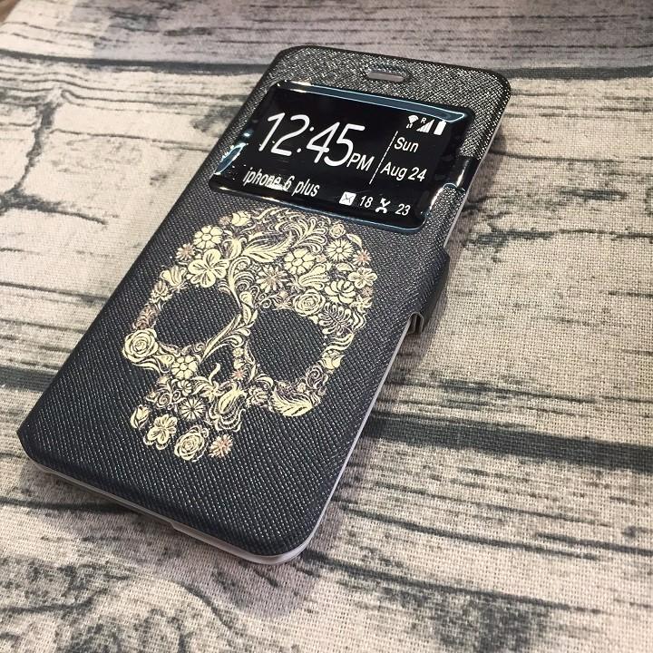 Bao da Iphone 6 plus đầu lâu 2