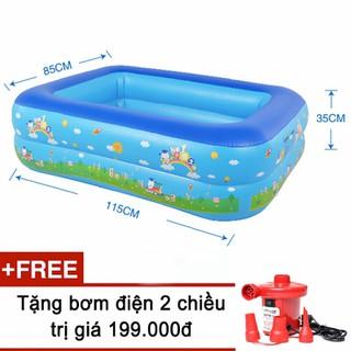 Bể bơi phao 2 tầng size 115 - Mẫu mới tặng kèm bơm - BBP006XD+BD001Do-Z thumbnail
