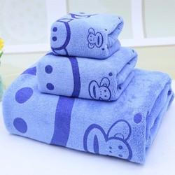 Bộ 3 khăn tắm, gội, rửa siêu mềm mịn
