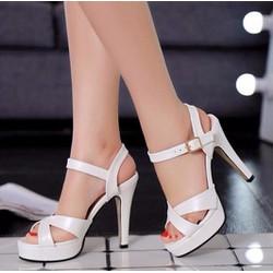Giày cao gót đan chéo CK275