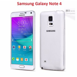 Ốp lưng Note 4 - Silicon Dẻo trong suốt