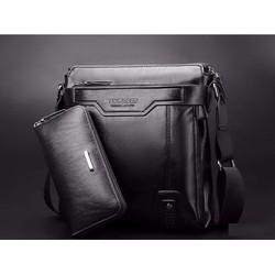 Túi đeo chéo cho nam, túi đựng ipad - Tặng ví da cùng màu