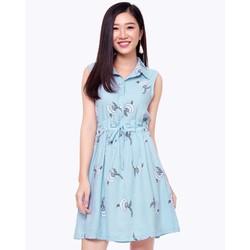 Đầm So mi Rút Eo Thời Trang