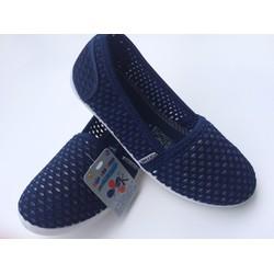 Giày lưới nữ đế cao su ép màu xanh đen