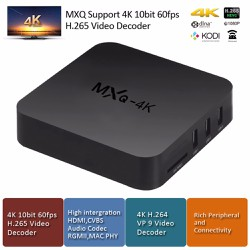 Android TV Box MXQ 4K RK3229 có CH Play, Wifi