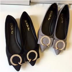 Giày búp bê đính nơ điệu đà cho bạn gái-142