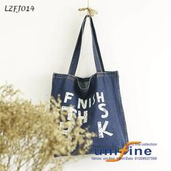 Túi xách vải in chữ thơi trang nổi bật - LZFJ014