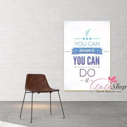 Decal văn phòng you can do it