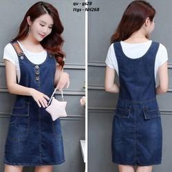 Đầm Yếm Jeans Thời Trang–
