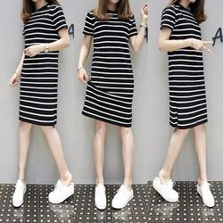 Đầm suông ngắn tay thời trang