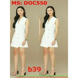 Đầm ôm công sở thiết kế giả vest thời trang DOC550