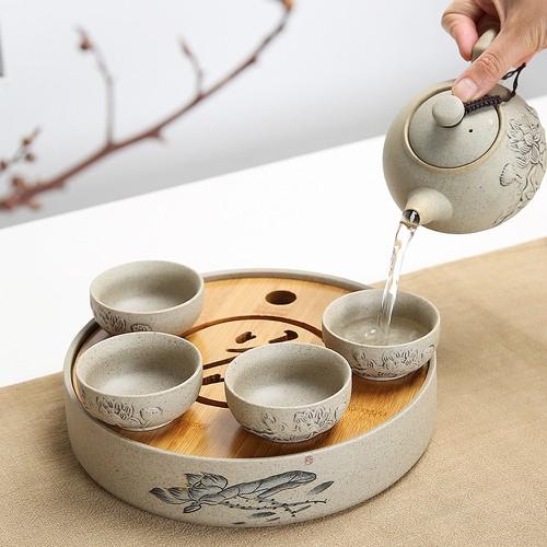 Bộ ấm trà sứ cao cấp Trung Hoa