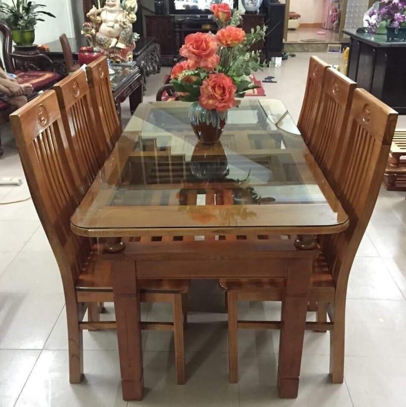 bàn ăn gỗ trẹo 5
