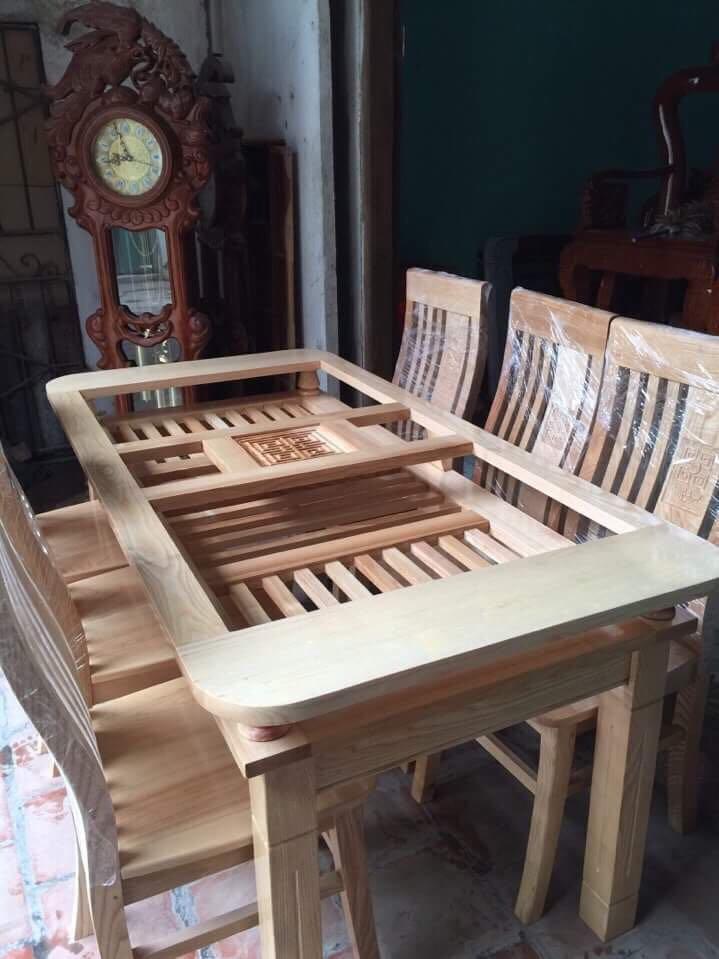 bàn ăn gỗ trẹo 3