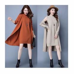 Set áo khoác và váy len MSL022