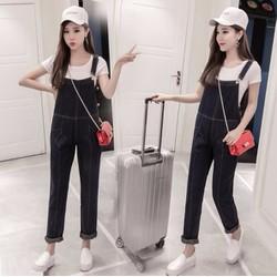 Quần yếm jean nữ kiểu Hàn Quốc -YQ100