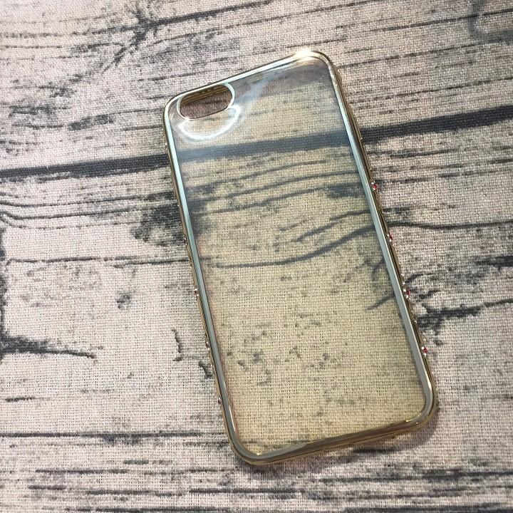 Ốp lưng Iphone 6 6s viền đính hạt silicon 1