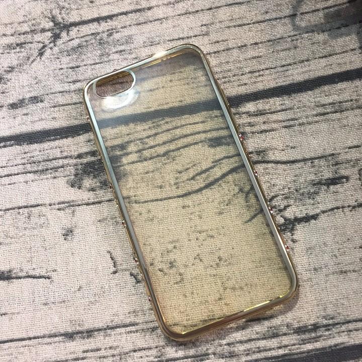 Ốp lưng Iphone 6 6s viền đính hạt silicon 3