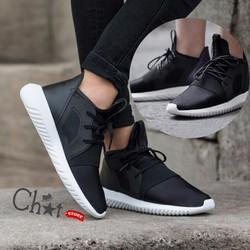Giày Sneaker Nam Đen Cổ Cao Tubular Defiant