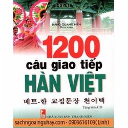 SÁCH 1200 CÂU GIAO TIẾP HÀN VIỆT KÈM CD