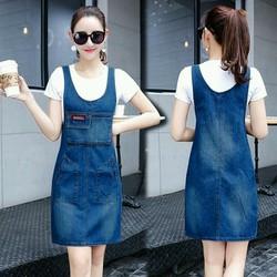 Đầm Jean Yếm Cách Điệu Phối Túi