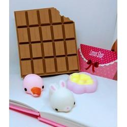 Combo Sổ Tay Chocolate - 01 Thú Silicone Siêu Mềm