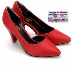 Giày nữ Huy Hoàng cao cấp xẻ hông màu đỏ