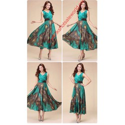 Đầm xòe họa tiết xinh , chất đẹp, giá tốt