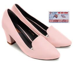 Giày nữ Huy Hoàng cao cấp đế 5cm màu hồng phấn