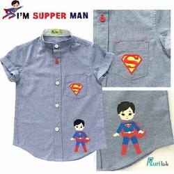 Áo sơ mi bé trai siêu anh hùng