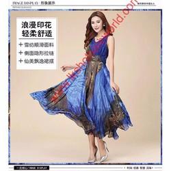 Đầm xòe họa tiết cực xinh cho nữ, giá tốt