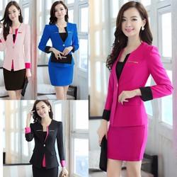 Bộ vest áo và chân váy phối màu tùy chọn đủ size TV02B HÀNG Y HÌNH