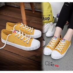 Giày Sneaker Nữ Vàng Cổ Thấp Năng Động